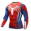 Cosplay человек - паук  супермен мстители Long-T-shirt велоспорт быстросохнущий мужчины футболку слим  высокая эластичность аксессуары для косплея cosplay