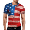 hauber last name strong american t shirt Male 2017 Brand Short Sleeve American Flag 3D Digital Print T Shirt O-Neck Slim Men T-Shirt Tops Fashion Mens Tee Shirt T Shirts