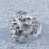 марочный 316L Титан из нержавеющей стали Тигровое кольцо Мужчины Уникальные мужские ювелирные изделия для животных US размер