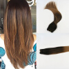 High Quailty Balayage Color #2 Fading to #6 2Pcs/Lot Brazilian Remy Hair In Human Hair Wefts Free Shipping free shipping 2pcs lot 1 2 weldless bulkhead with ball valve