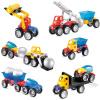 Bain Ши (beiens) строительные блоки образовательные игрушки детские бой вставленные Разнообразие магнитный стержень 39 блоков строительных машин набор 6969-7 наколенник магнитный здоровые суставы