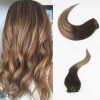 7Pcs 120G Color #3#24#3 Brazilian Remy Hair Full Set Clip On Hair Extensions 100% Human Ombre Balayage Hair Extensions great spaces home extensions лучшие пристройки к дому