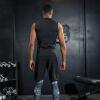 Положительный леопард фитнес-костюм костюм мужчины спортзал спортивный костюм в обтяжку сжатие костюм движение жилет костюм бегать костюм adzhedo adzhedo ad016ewvsx28