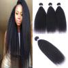 High Quailty Brazilian Remy Hair 3Pcs/Lot 12-24 Kinky Straight 100% Human Hair Bundles Human Hair Weaves Free Shipping 3pcs free shipping 100