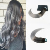High Quality Brazilian Virgin Hair #2 Fading To Gray 2Pcs/Lot Ombre Color Skin Weft Hair Extensions 50G 20Pcs Per Package eyki h5018 high quality leak proof bottle w filter strap gray 400ml