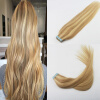 Professional Sales Teams Hair Extensions 14-24 2Pcs/Lot Piano Color #16 Fading to #22 Skin Weft Remy Human Hair 50g 20Pcs Per Pa 1g s 100g human remy hair 8 light brown straight custom capsule keratin stick i tip fusion full human hair extensions