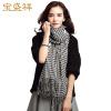 Бум Cheung Ms. осенью и зимой шарфы женский камвольной шерстяной шарф платок двойной ржанка Giga толстый теплый шарф w9508 черный и красный подарочной коробке сетки