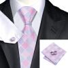 n-1028 Vogue мужчин шелковым галстуком набор plaids & проверок галстук платок запонки набор связей для мужчин официальный свадебный бизнес оптом запонки arcadio rossi 2 b 1028 40 e