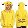 Pokemon Pikachu пикачу женщины случайные капюшон свитер Cosplay хэллоуин костюмы