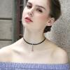 Lelady velvet Choker necklace Black chain necklaces short neck chain velvet collar faux leather velvet alloy choker necklaces