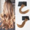 цена на 14-24 7pcs 120Gram Balayage Color #2#6#27 Brazilian Hair Extensions Full Set Clip On Hair Extensions 100% Human Hair