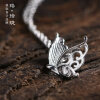Luo Linglong s925 sterling silver butterfly wish pendant necklace anti-allergy simple temperament personality fresh hand original linglong d905 215 75r17 5 135 133l tl