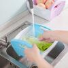 Кухонные принадлежности для посуды для посуды Фруктовые овощные стирки Складные корзины для хранения B11