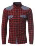Модные мужские рубашки с длинными рукавами Топы Классические плед рубашки Рубашки мужские рубашки Slim Men Shirt XXXL рубашки vitacci рубашки