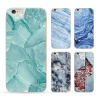 phone shell marble painted phone shell relief soft shell TPU creative art mobile phone sets for iphone 8 7/7plus 6/6s brushed plastic shell kickstand phone casing for iphone 6s 6 4 7 baby blue