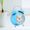 3.5 Inch Student Classic Metal Bell Alarm Clock Silent Sweep Retro Needle Table Clock Backlight Quartz Mini Desk Clock