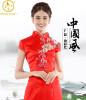 Королевский синий черный красный белый Китай Cheongsam свадебное платье Шелковый Qipao знаменитости-вдохновил Длинные китайские традиционные платья Женщины платье знаменитости в челябинске