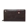 Dalfr Настоящая кожа бумажник Для мужчин держатель карты коровьей портмоне мужской моды клатч Мужские сумки ручной Сумки Для мужчи мужские сумки