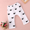 1pcs Baby Kids Girls Boys Cute Whale Printed 100% Cotton Pants Trousers Leggings