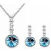 Круглые кристаллы Подвесные ожерелья Серьги Наборы для ювелирных изделий для женщин Подарочные невесты Свадебные украшения Белое золото Цветные аксессуары подарочные наборы