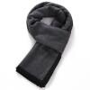 Du Сенна (DUSENNA) длинный участок теплые зимние шарфы короткая борода черная окантовка мужской деловой полосатый шарф зимние шарфы мужские
