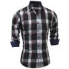 Brand 2017 Fashion Male Shirt Long-Sleeves Tops Classic Spring Plaid Mens Dress Shirts Slim Men Shirt 2XL