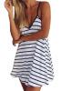 Lovaru ™2 015 Новый моды случайные летнее платье в стиле А-линия белый рукавов V-образным вырезом сексуальный мини полосатые пляжные платья женщин 015 спб 015 кукла боярский костюм в ассортименте
