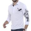 T-Shirt Men 2017 Brand Male Long Sleeve Solid Eagle Printing T-Shirts Mens Casual Mens Slim Slim Tee Tops XXL