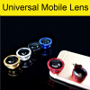 3 In 1 Universal Clip Camera Mobile Phone Lens Fish Eye + Macro + Wide Angle For iPhone 7 Samsung Galaxy S7 HTC Huawei All Phones lieqi universal clip 0 4x wide angle macro fish eye lens set black red