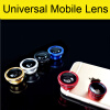 3 In 1 Universal Clip Camera Mobile Phone Lens Fish Eye + Macro + Wide Angle For iPhone 7 Samsung Galaxy S7 HTC Huawei All Phones universal 2 in 1 clip lens kit for cell phone tablet red