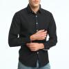 Модные мужские рубашки с длинными рукавами Топы Твердые цвета рубашки с высоким качеством рубашки для мужчин Slim Men Shirt рубашки