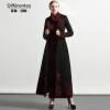 DF · RS Черное шерстяное пальто с длинным участком коленного сустава 2017 осень и зима новое Тонкое теплое шерстяное пальто хохловка дом с участком