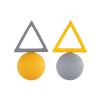 Shin Kong ювелирные изделия европейских и американских минималистский конфеты цвета геометрические треугольные серьги гальванического серьги дикий темперамент женщина свежий серый желтый + shin kong ювелирные изделия серебряные серьги s925 циркон moonlight экспресс