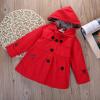 дети, девочки и зимнюю одежду шерсть верхняя одежда давно траншеи ветер пальто.