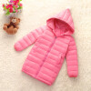 Girls Winter Light White Down Coat Kids Jacket Hooded Long Sections Children Clothes Receive Warm Parka Outerwear Snowsuit TZ148 winter girl jacket children parka winter coat duck long thick big fur hooded kids winter jacket girls outerwear for cold 30 c
