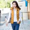 2017 осень и зима новый женский перо хлопок жилет женский пиджак корейский тонкий короткий капюшон жилет