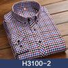 Повседневная мужская хлопчатобумажная рубашка с длинным рукавом Весна Silm Fit Fashion Lattice