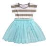 девочки, ребенок ребенок принцесса полосатый милый кусок платье летом юбка официально джемпер hilfiger denim dw0dw02684 114 snow white htr