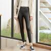 Город плюс CITYPLUS 2017 зима новый женский литературный небольшой текст дикие кожаные штаны упругие талии лосины CWKX179461 черный L в виннице кожаные мужские штаны
