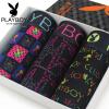 Playboy PLAYBOY Мужское нижнее белье Мужское плоское угловое нижнее белье Бамбуковое волокно Лоскутная сетка для нейлоновой печати Mingganggang брюки 3 установлена XXXL (185/110)