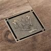 HIDEEP ванные принадлежности латунь напольные стоки душ водостоки hideep ванные принадлежности зеленая бронза фильтр для душа ванная напольные стоки