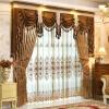 1pc no Tulle и Valance (РАЗМЕР: W100CMXL200CM) Европейские роскошные шторы Gloden Royal для занавесок для спальни для гостиной для спальни