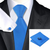 n-0850 Vogue мужчин шелковым галстуком набор голубой твердых галстук платок запонки установить связи для мужчин официальный свадебный бизнес оптом жидкое стекло где оптом