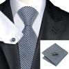 Н-0982 моде мужчины Шелковый галстук набор галстук Запонки платок черный Новинка набор галстуков для мужчин формальных Свадебный бизнес оптом купить шифер оптом в липецке