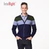 INTERIGHT2017 осенние и зимние свитера мужчин термобелье пуловер свитер поддельные два темно-синий мозаика Xl