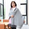 Shanghai Story (история SHANGHAI) г-жа осень и толстый зимний сплошной цвет шарфы трикотажные платок носить серый