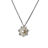 Luo Linglong s925 sterling silver pearl necklace female lock bone chain lotus pendant jewelry simple Valentine's Day birthday gift old antique bronze doctor who theme quartz pendant pocket watch with chain necklace free shipping