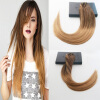 Straight Hair #4#27#10 Ombre Balayage Color 7Pcs 100G Full Set Clip On Hair Extensions 100% Brazilian Human Hair 1g s 100g human remy hair 8 light brown straight custom capsule keratin stick i tip fusion full human hair extensions