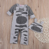унисекс новорожденного мальчика sleepwear пижаму babygrows