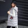 2017 осень и зима новые перья хлопка жилет женщин в длинный жилет корейской версии цвета с капюшоном куртки куртки куртки куртки ombre куртки